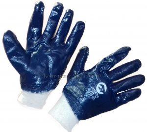 Перчатки нитриловые, манжета